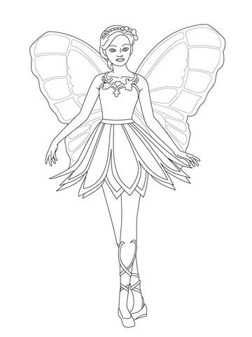 coloring pages of barbie mariposa barbie mariposa printable coloring pages