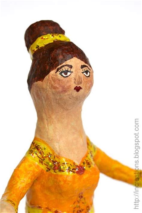 How To Make Paper Mache Dolls - inna s creations papier mache doll made using a plastic