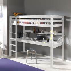 lit mezzanine en pin avec bureau int 233 gr 233 couchage 90 x 200