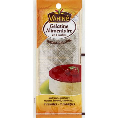 gelatina alimentare vegetale vahin 233 g 233 latine alimentaire en feuilles monoprix fr