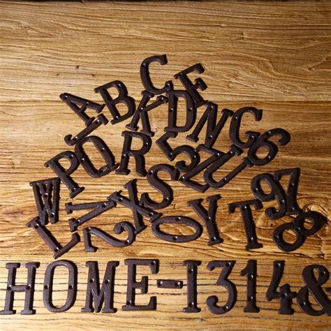 decorative name signs vintage decorative metal alphabet letter wall sign address