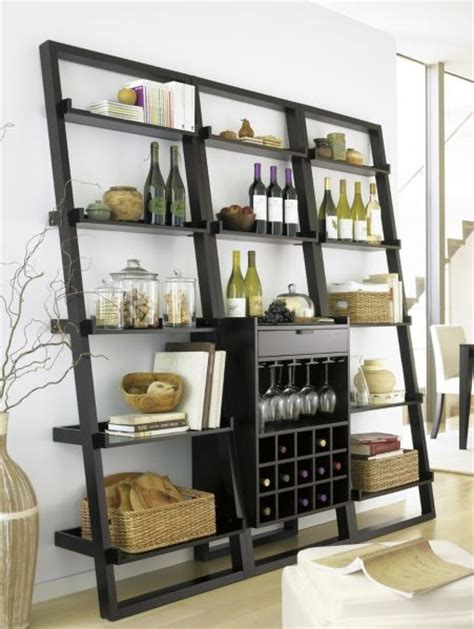 sloane leaning wine bar bookcase from crate and barrel