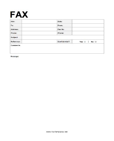 Formal Fax Template Fax Template Free