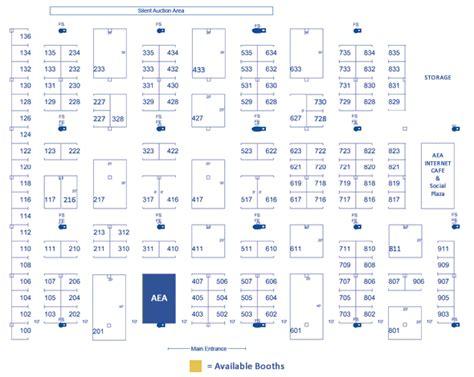trade show floor plan geneva convention aircraft electronics association 52nd annual international