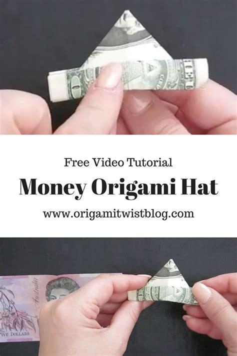 Origami Money Hat - 2039 best paper folding images on tea bag