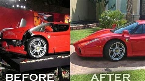 Crashed Ferrari Enzo by Ferrari Enzo Crashed By Eddie Griffin Has Been Rebuilt