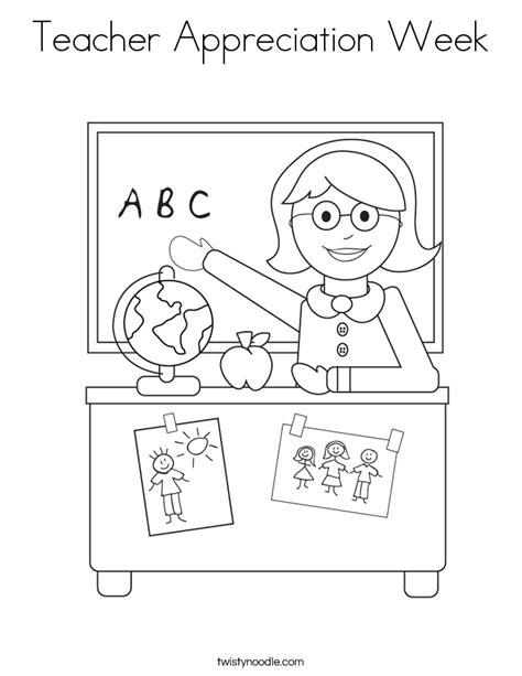 teacher appreciation week coloring page twisty noodle