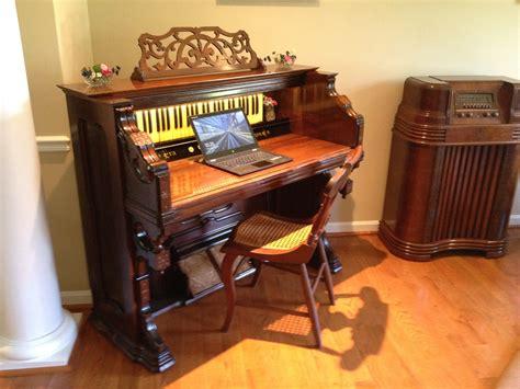 C 1873 New Era Pump Organ Re Purposed Into A Functioning Repurposed Desk