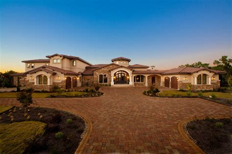 luxury mediterranean homes waterfront luxury home lake travis mediterranean exterior by jenkins custom homes