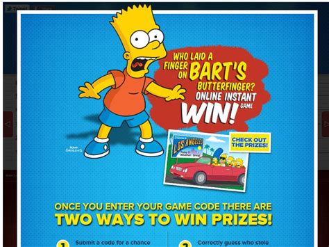 Butterfinger Sweepstakes - who laid a finger on bart s butterfinger sweepstakes