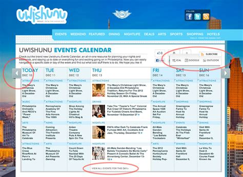 Philadelphia Calendar Of Events Introducing The Brand New Uwishunu Events Calendar Your
