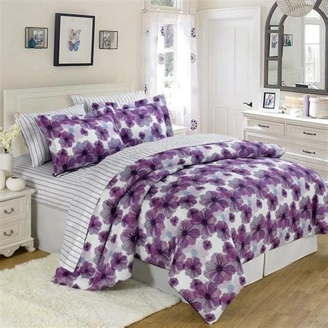 how big is a twin comforter us polo large purple floral twin 5 pc bed in a bag get