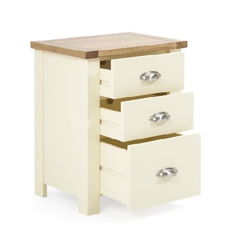 tall bedside cabinets platina wooden tall bedside cabinet in oak and cream 29403