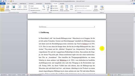Vorlage Word Diplomarbeit wissenschaftliche arbeit 1 mit word 2010 formatieren