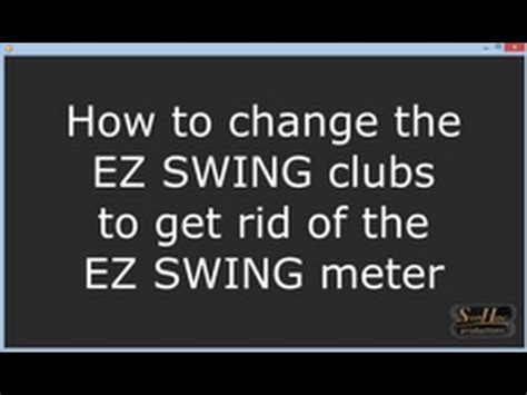 wgt swing meter get rid of the ez swing meter in wgt youtube