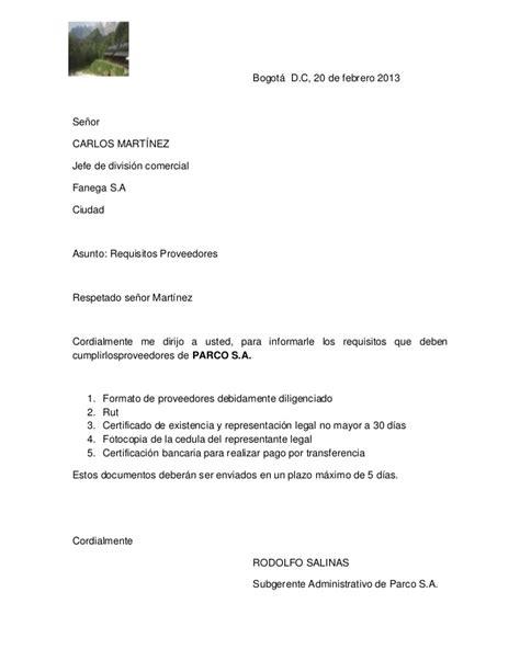 Carta De Empleo Estilo Bloque carta estilo semibloque
