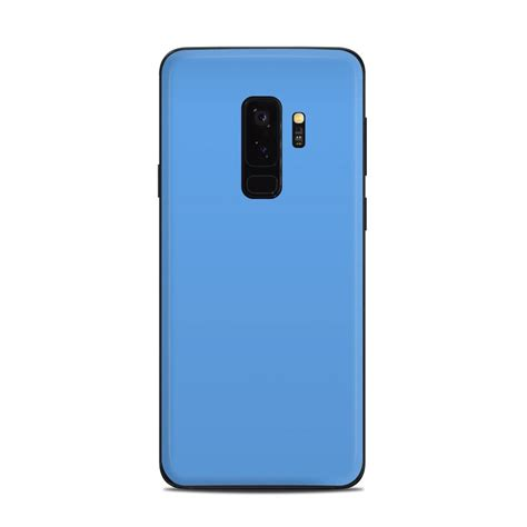 samsung galaxy s9 plus skin solid state blue by solid colors decalgirl