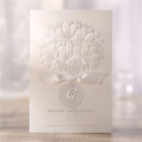 Embossed Wedding Invitations by Embossed Wedding Invitations With Beautiful And Best