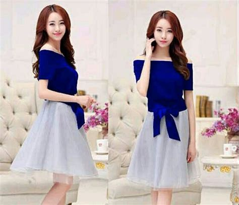 baju mini dress pendek pita polos cantik terbaru murah