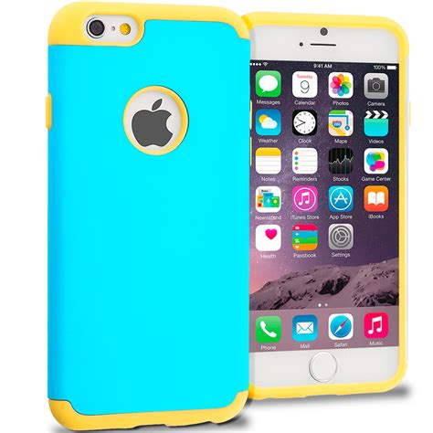 Iphone 7 Plus Nike Yellow Blue Hardcase yellow baby blue hybrid slim soft shockproof armor cover for apple iphone 6 6s 4 7