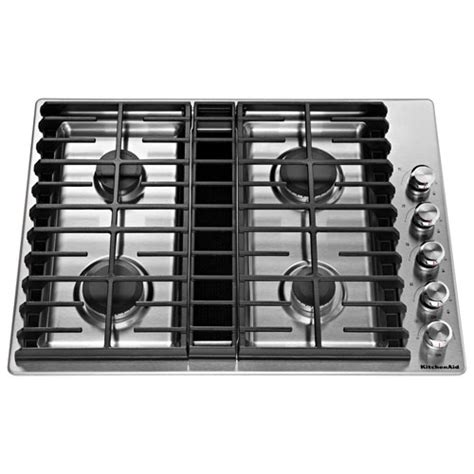 best buy gas cooktop kitchenaid 30 quot gas cooktop kcgd500gss stainless steel