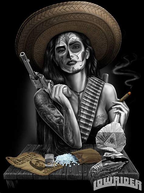 lowrider arte magazine dead skull tat pinterest