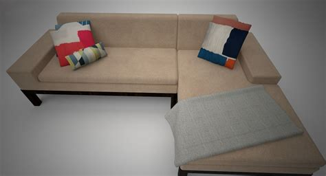 west elm lorimer sofa west elm lorimer sofa with chaise 3d model max cgtrader com