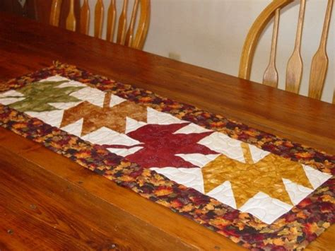Thanksgiving Table Runners by Thanksgiving Leaves Quilted Table Runner