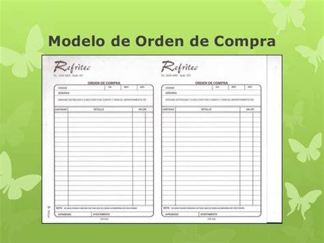 formulario orden de compra documentos comerciales