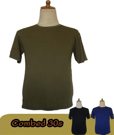 Kaos Polos Hitam Cotton 30s Size S jual kaos polos combed 30s hijau army sz l grosir kaos