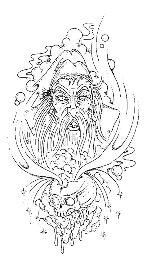 tribal wizard tattoos wizard design wizard