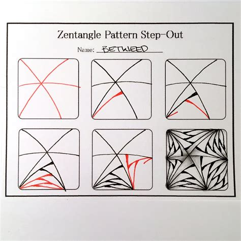 Zentangle Pattern Step Outs | zentangle valentine s heart series designs 2016 always