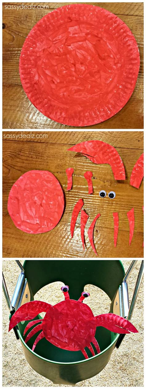 Paper Plate Crab Craft - best 25 paper plate crab ideas on theme