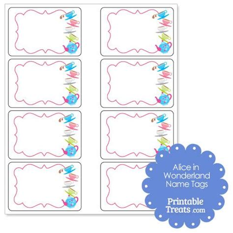 printable name tags for tea party 59 best alice in wonderland party printables images on