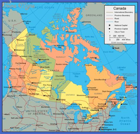 map of south canada canada map toursmaps