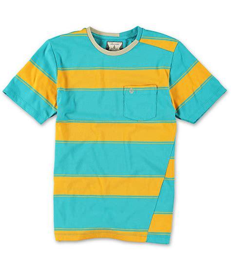 Baju Volcom Crew Orange Original 1 volcom boys square crew orange stripe t shirt zumiez