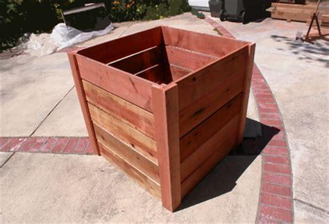 Redwood Planter Box Plans by Antique Style Furniture Plans Redwood Garden Planters