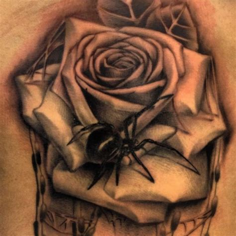 spider rose tattoo 1000 ideas about spider on tattoos