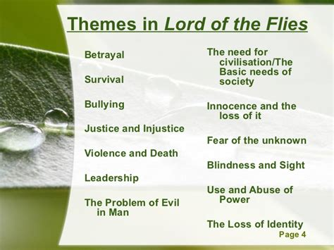 lord of the flies themes lesson plans 2 lotf qqt