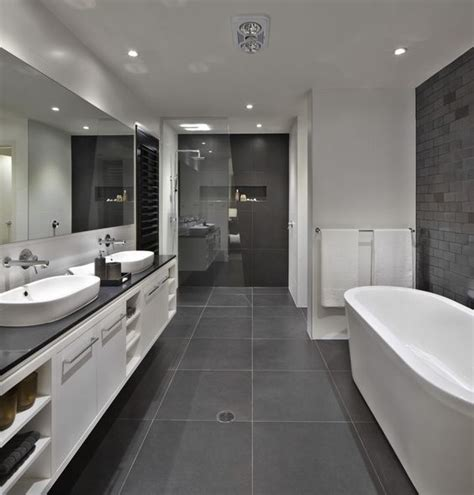 gray and white bathrooms bathroom floor to roof charcoal tiles with a black