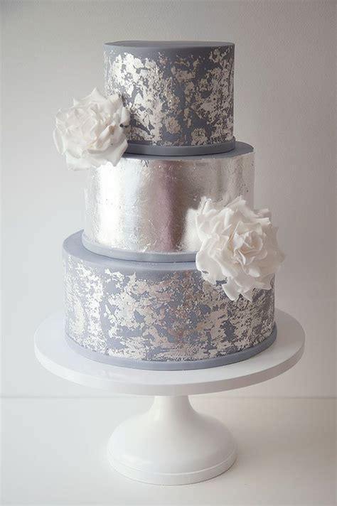 Silver Wedding Cake by Wildflower Wedding Cake Www Pixshark Images