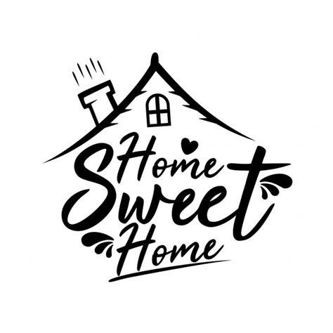 home sweet home vector premium