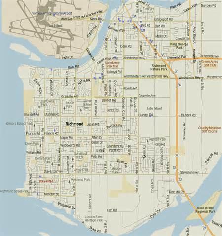 richmond map columbia listings canada