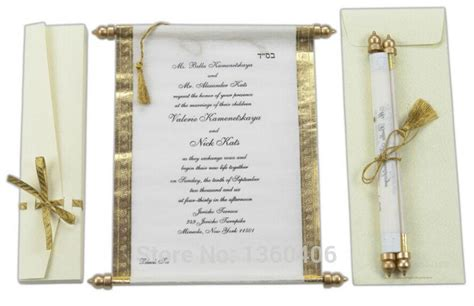Paper Scroll Wedding Invitations by 2016 Scroll Wedding Invitations Card Wholesale