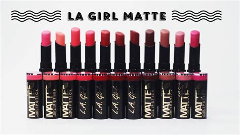 Lipstik La swatch review la flat velvet matte lipstick with