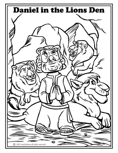 coloring page daniel in lions den daniel in the lion den coloring pages coloring home