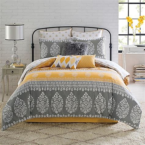 bed bath and beyond anthology anthology 174 amaya reversible comforter set bed bath beyond