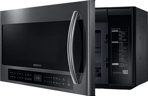 Samsung Ms28j5255ubse Microwave 1 me21h706mqg samsung 2 1 cu ft the range microwave oven black stainless steel