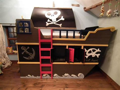 Theme Bunk Beds Items Similar To Pirate Ship Theme Bunk Bed With Hideout And Play Deck On Etsy