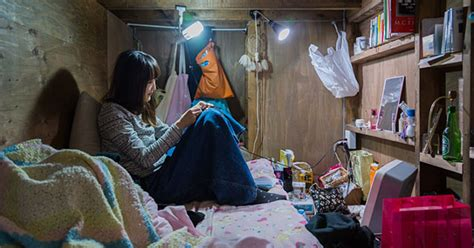 living in japan shocking images of people living in extremely tiny spaces in japan will make you appreciate your